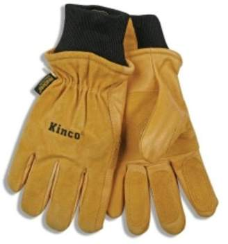 Kinco 901M Ski Gloves, Pigskin Leather, Reinforced Palm And Fingers, Heatkeep Thermal Lining, Medium