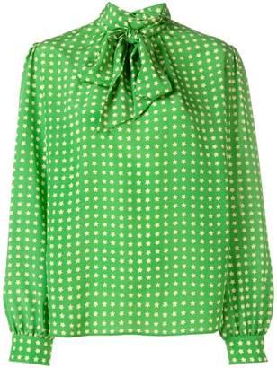 Saint Laurent starry print blouse