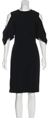 Givenchy Cold-Shoulder Midi Dress
