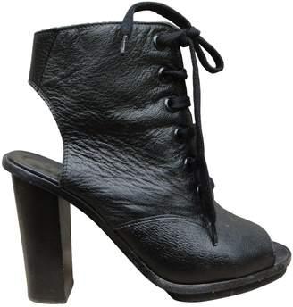 Claudie Pierlot Leather open toe boots