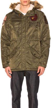 Schott Nylon Fishtail N-3B Jacket with Faux Fur Trim