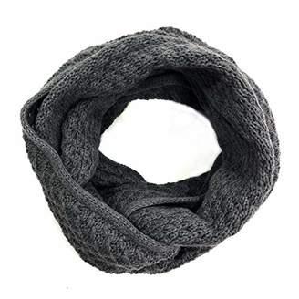 accsa Men's Winter Ribbed Knit Winter Infinity Circle Loop Scarf