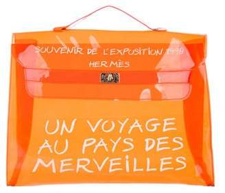 Hermes Vinyl Kelly Souvenir Bag
