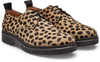 Joseph Leopard Leather Lace-Ups