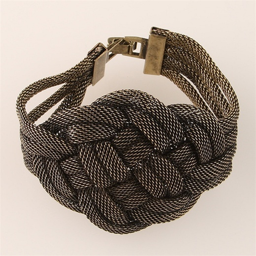 Ccc Knotted Metal Mesh Cuff