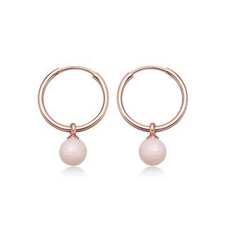 Astley Clarke Vera Pink Opal Drop Hoop Earrings