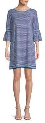 Max Studio Bell Sleeve Print Dress