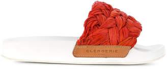 Robert Clergerie braided front slides