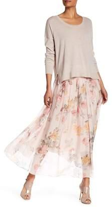 Luma Floral Print Silk Maxi Skirt