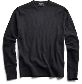 Todd Snyder Cotton Crewneck in Black