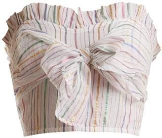Apiece Apart Flora metallic-striped bandeau top