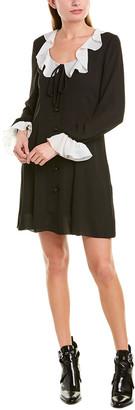 Anna Sui Crepe & Georgette Shift Dress