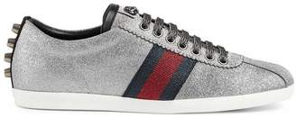 Gucci Glitter Web sneaker with studs