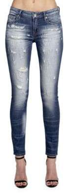 Cult of Individuality Zen Mid-Rise Washed Jeans