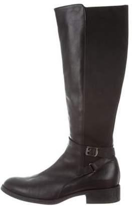 Aquatalia Round-Toe Riding Boots Black Round-Toe Riding Boots