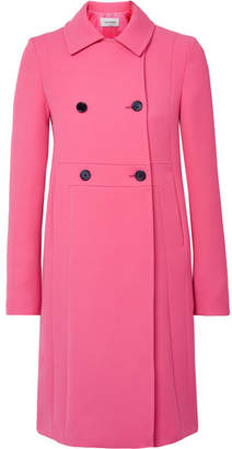 Valentino Donna Double-breasted Wool Coat - Pink