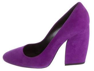 Pierre Hardy Round-Toe Suede Pumps
