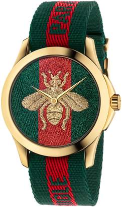 Gucci Le Marche Des Merveilles Nylon Strap Watch, 45mm