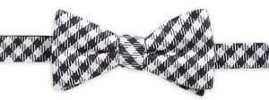 Black & Brown Black Brown Silk Gingham Bow Tie