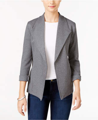 Style&Co. Style & Co Petite Open-Front Cotton Knit Blazer, Created for Macy's