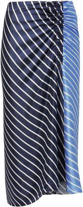 Tibi Delphina Striped Midi Skirt