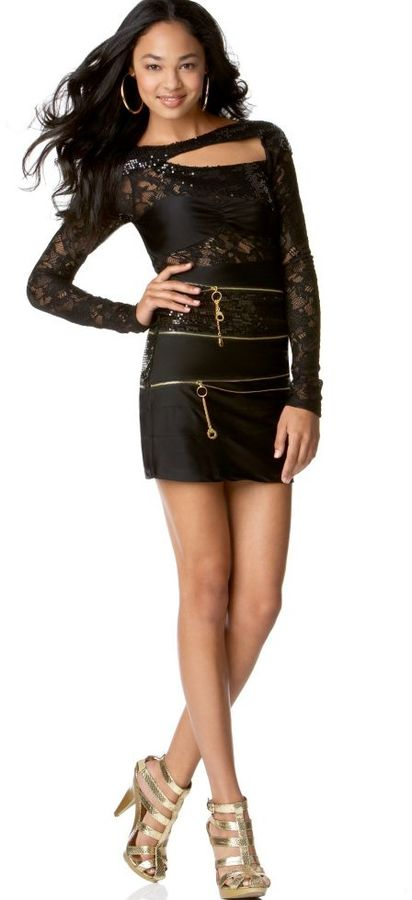 Rocawear Dress, Controversy Sequin and Lace