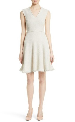 Women's Rebecca Taylor Stretch Tweed Fit & Flare Dress $450 thestylecure.com