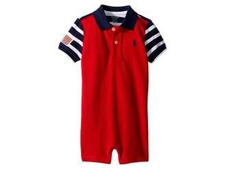 Ralph Lauren Color Blocked Cotton Shortall (Infant)