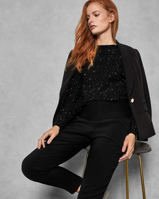 Ted Baker ALIA Sparkle statement sleeve sweater
