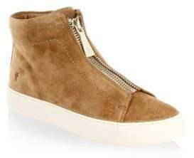 Frye Lena Zip Suede High-Top Sneakers