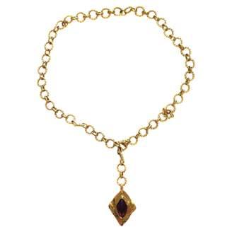 Saint Laurent Gold Metal Long necklace