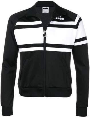 Diadora colour block zipped sweatshirt
