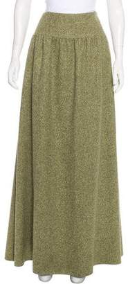Oscar de la Renta Pleated Maxi Skirt