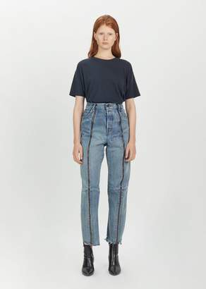 Vetements Zipped Biker Jeans Blue
