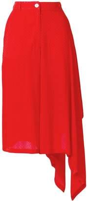 Marios asymmetric high-waisted skirt