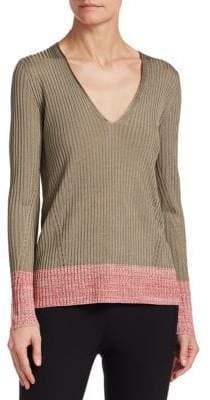 Rag & Bone Alyssa Contrast V-Neck Sweater