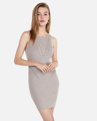 Express Sleeveless Fitted Mini Sweater Dress