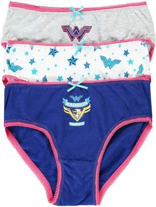 Jellifish Little Girl's 2-Pack Wonder Woman Cotton Jersey Bikini Panties