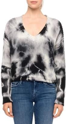 Line Tie-Dye V-Neck Sweater