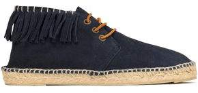 Manebi Lace-Up Fringed Espadrilles