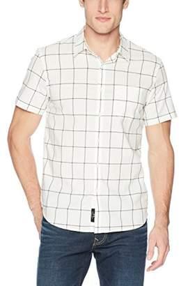 Lucky Brand Men's Causal Short Sleeve Button Down Ballona Shirt