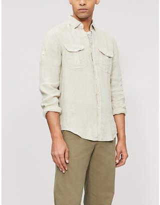 SLOWEAR Regular-fit buttoned-cuff linen shirt