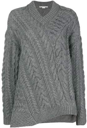 Stella McCartney off-centre cable knit sweater
