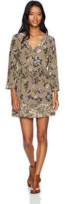 WallFlower Junior's Mix Print Rayon Gauze Tunic Dress