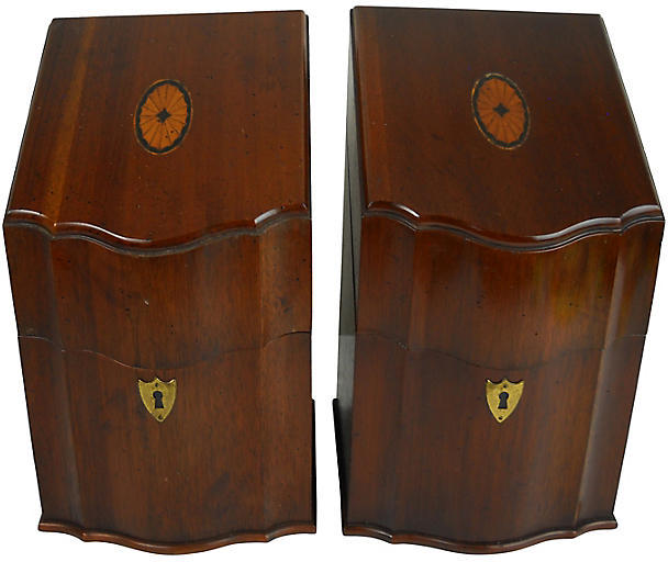 One Kings Lane Vintage Georgian-Style Inlaid Knife Boxes