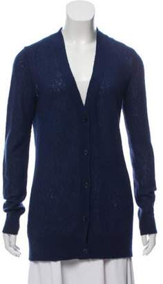 Michael Kors Knitted V-neck Cardigan Navy Knitted V-neck Cardigan