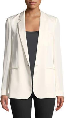 Theory Grinson Modern Silk Georgette Blazer
