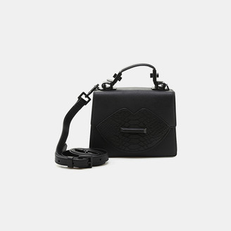 KENDALL + KYLIE Lips Leather Top Handle Purse
