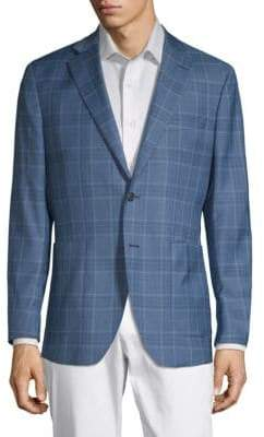 Plaid Notch Lapel Jacket
