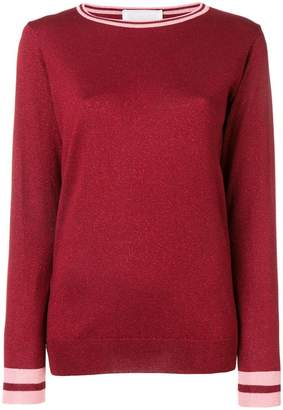 Chiara Bertani metallic knit jumper
